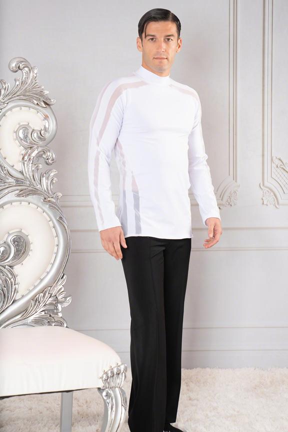 Mens white ballroom shirt