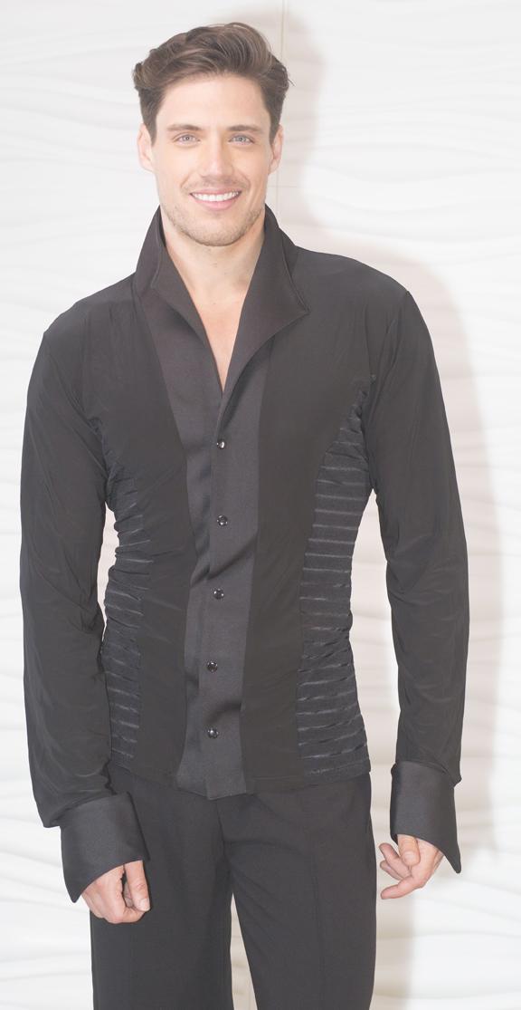 d5f37946b MS29 - Mens Soft Collar Stripe Ballroom Shirt without Trunks